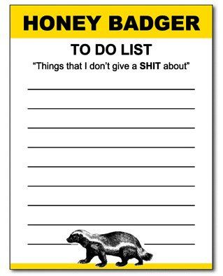 honey badger funny notepad office memo pad gag gift yellow and black these honey badger notepads