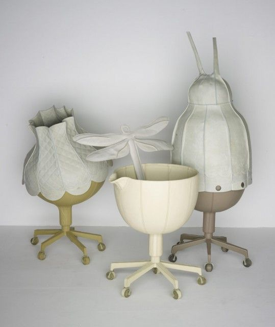 Office Pets      Year: 2007     Material: Leather, metal, polyester, embroidery