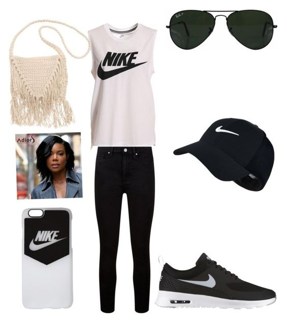 """""""What to wear outside"""" by sg142026 on Polyvore featuring NIKE, Paige Denim, Billabong and Ray-Ban"""