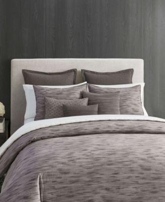 Vera Wang Burnished Quartz Dark Grey Comforter Set Queen Bedding