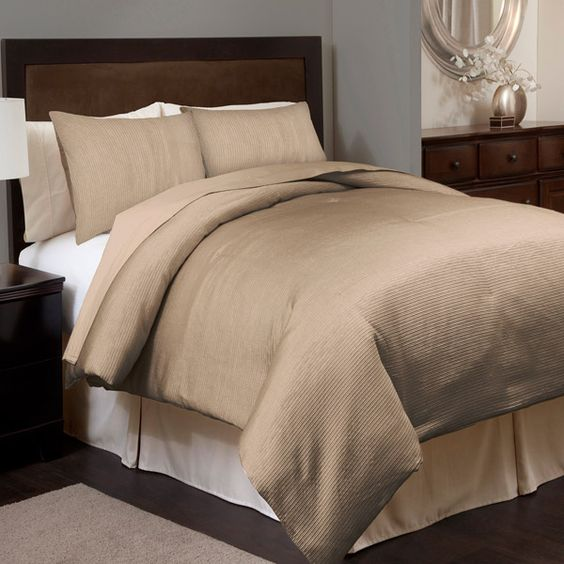 Channel Taupe Comforter Set By Triangle Home Fashions