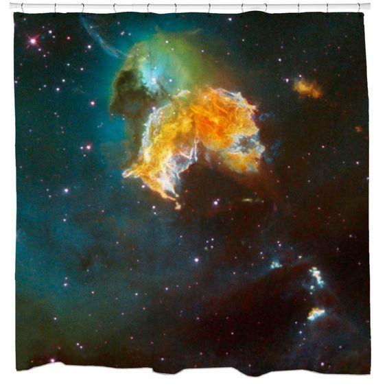 Sharp Shirter Supernova Remnant N 63a Shower Curtain
