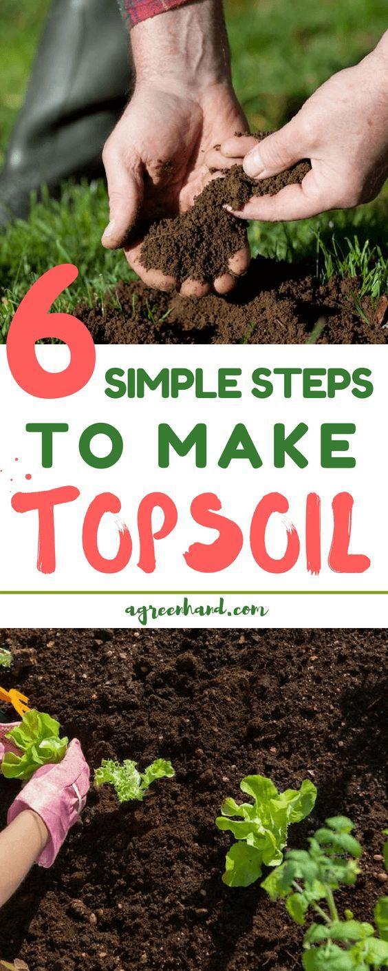 How To Make Topsoil In 6 Simple Steps Organic Gardening Soil Top Soil Garden Soil