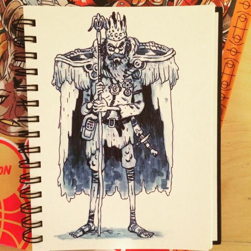 King of Nothing, the drawing I did live at the @gallerynucleus workshop today. (at Gallery Nucleus)
