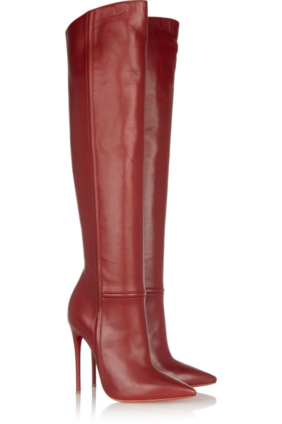 Christian Louboutin Armurabotta 120 leather over-the-knee boots ...