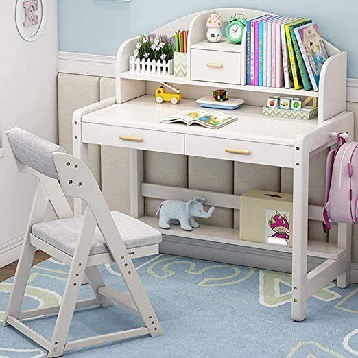 N A Student Study Table Wooden Bedroom Desk And Bookshelf Best Gift Desk For Kids Color Beige Size 1 In 2020 Kids Study Table Study Table And Chair Kids Study Desk