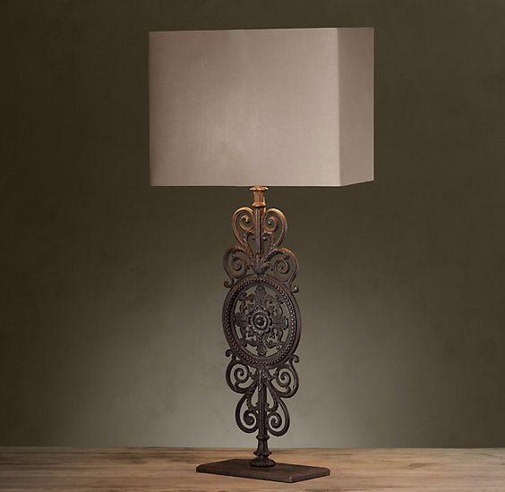 Beautiful Parisian Iron Gate Table Lamp   Restoration Hardware | Lights | Pinterest |  Iron Gates, Parisians And Gate