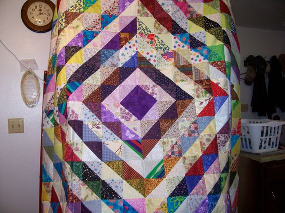 Diamond Quilt made with Triangles