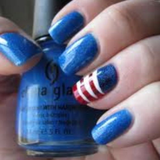 ❤4th of July nails