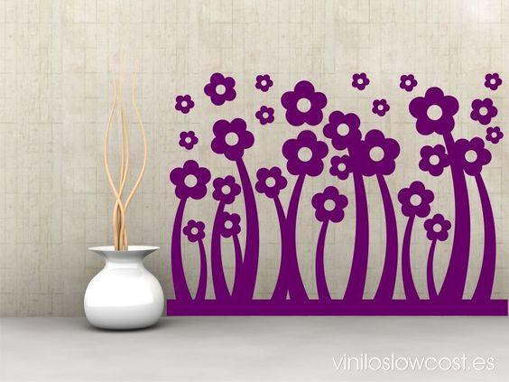 Floral on pinterest - Vinilos low cost ...