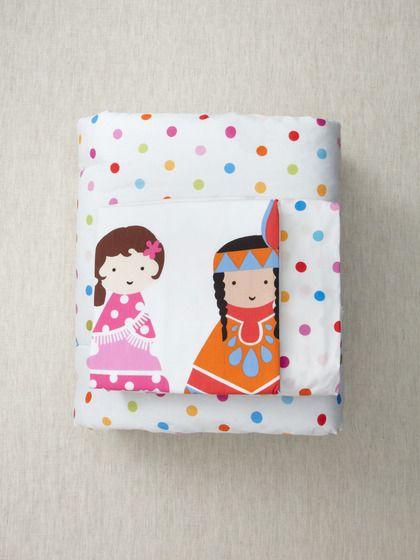 Super cute, happy dots Toddler Bedding 3-Piece Set by Kukunest on Gilt.com