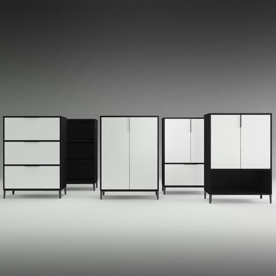 Linha de armário e arquivos M4, com portas, nichos ou gaavetas, é só escolher o seu preferido!