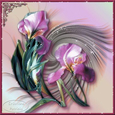 lila csillogó virág.gif: