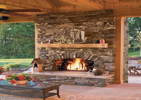 Covered patio ideas living space awesome outdoor for Covered patio with fireplace