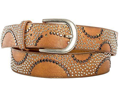 breit kürzbar Nietengürtel mehrfarbige Nieten Vintage Style