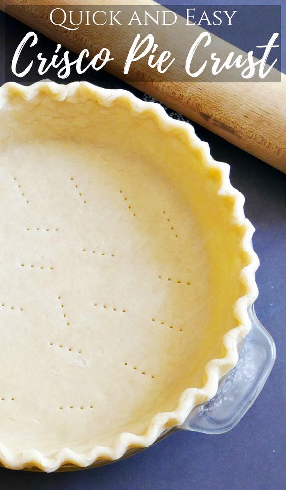 Quick and Easy Crisco Pie Crust