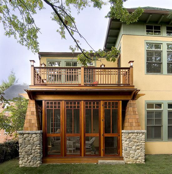 Closing porch for winter craftsman style pinterest for California bungalow vs craftsman