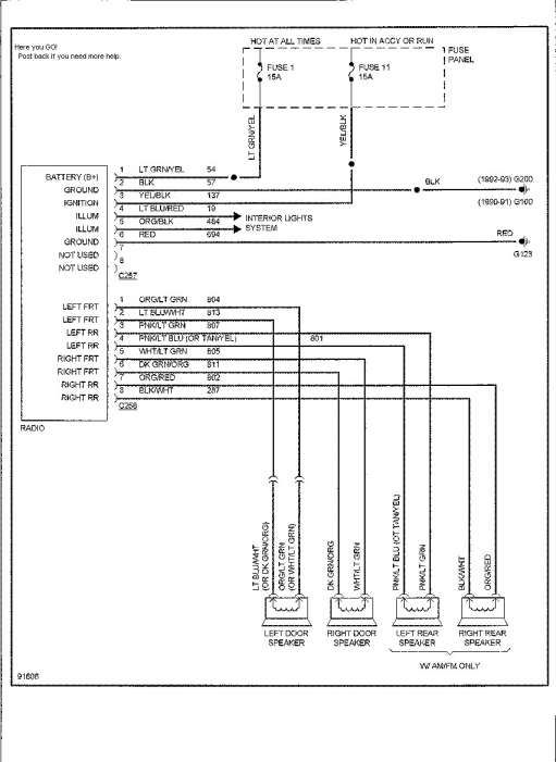 ford ranger factory radio wiring diagram - wiring diagram data 1992 ford ranger radio wiring diagram free download ford wire harness color code 8.pa.tennisabtlg-tus-erfenbach.de