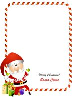 Printable pictures of santa claus printable santa for Cheap letters from santa claus