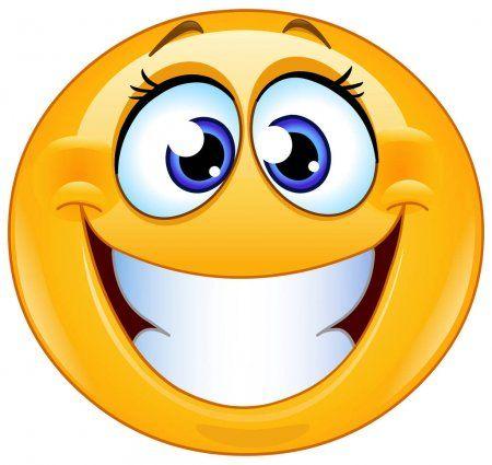 Sourire Emoticone Feminin Avec Un Grand Sourire De Dents Illustration Emoticone Emoticones Animees Emoji Drole