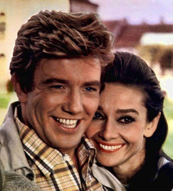 """Albert Finney y Audrey Hepburn en """"Dos en la Carretera"""" (Two For The Road), 1967"""