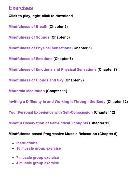 mindful way through anxiety pdf
