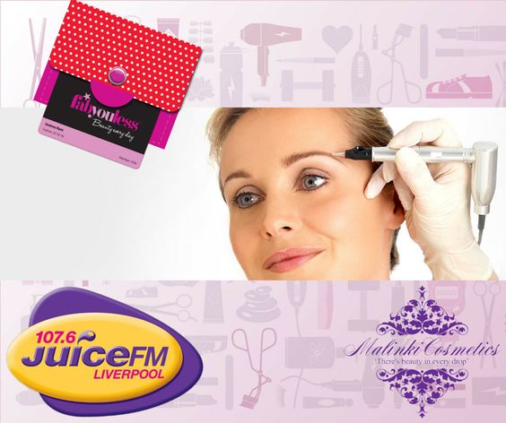 We have a great new prize up for grabs with Malinki, for our #FabyoulessFriday competition with Juice FM for all the Liverpool #Beauties out there!  What You Can Win: Breakfast Show: Full course of 3D Lipo RRP £1,000! 10am-2pm Show with Baz Todd: 4 Sessions of 3D Lipo Radio Frequency RRP £200 3pm-7pm Show with Mark Kaye: A New Set of Permanent Eyebrows, the Style is Combination Effect RRP £350  Click on the photo to enter our #Beauty Giveaway!