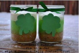 Pistachio Pudding Pie in a Jar