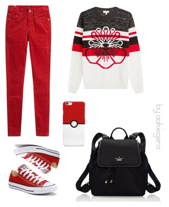 """Red to school"" by aakiegera on Polyvore featuring мода, Citizens of Humanity, Kenzo, Converse и Kate Spade"