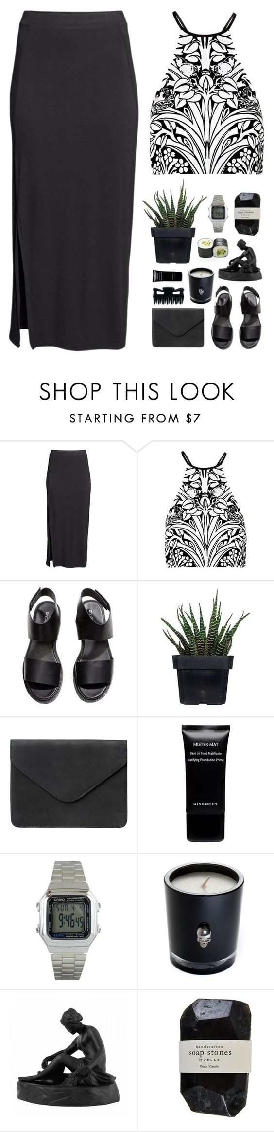"""""""' i just wanna look good for you. '"""" by m-balli ❤ liked on Polyvore featuring H&M, Alice McCall, Alöe, Givenchy, Casio, Lisa Carrier, Wedgwood and Cassia"""