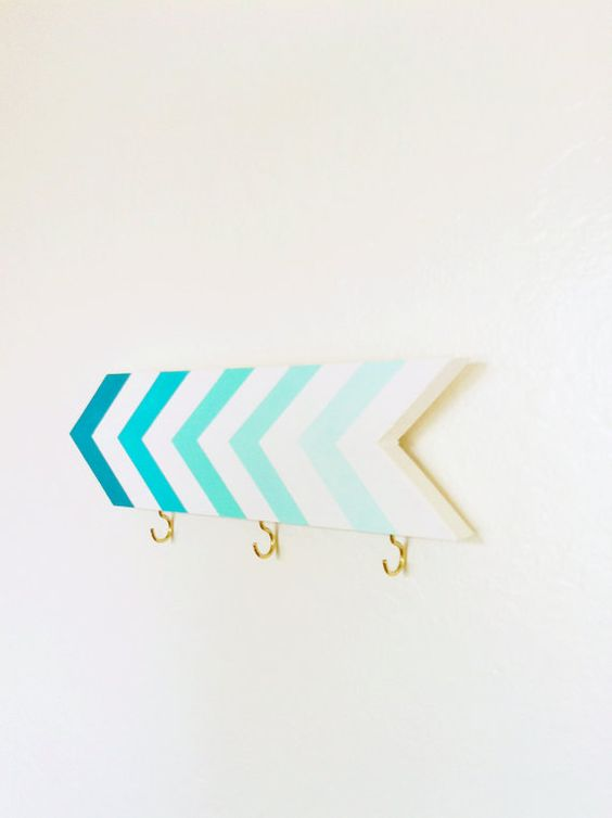 Wall hook - chevrons