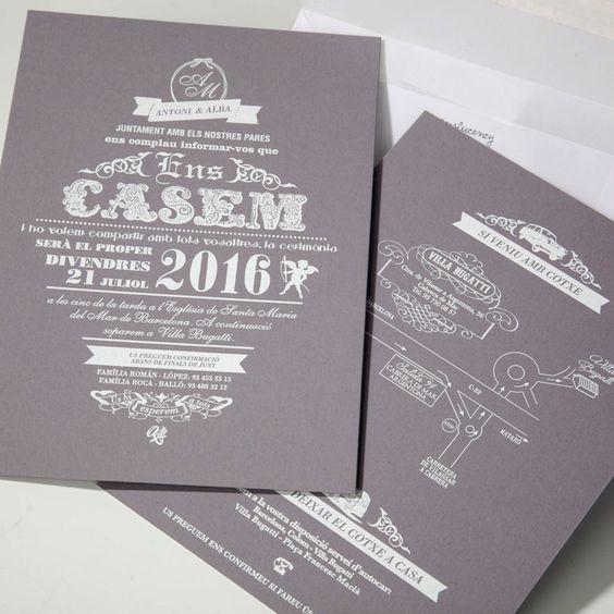 bodas · wedding · invitación de boda · loveisintheair · invitaciones de boda barcelona · ens casem ·