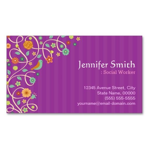 Social work business cards arts arts social worker business card arts colourmoves