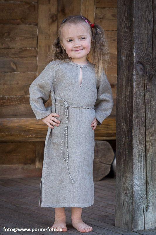 Girls Peasant Linen Dress. Very soft natural linen girl's sleeveless summer dresses.