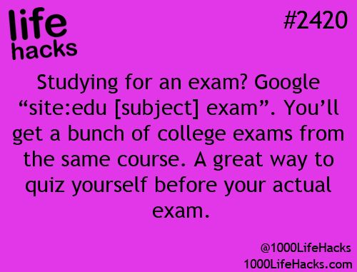 Life hacks - studying
