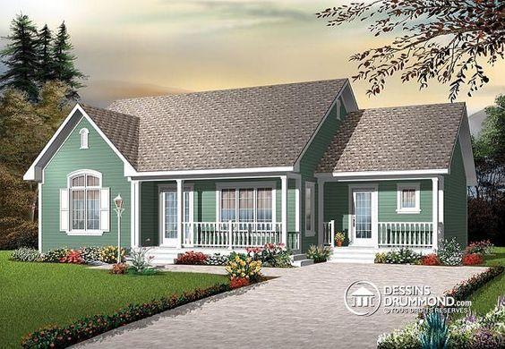 w3123 bungalow conomique l 39 am ricaine 3 chambres grand salon. Black Bedroom Furniture Sets. Home Design Ideas