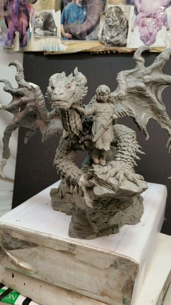 """Talula and the Stray"" is being wrapped up, but still some work to do. Super Sculpey Firm. #shiflettbrothers"