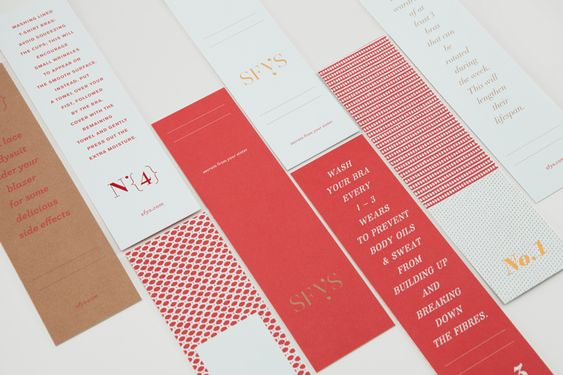 Visual identity and stationery designed by Blok for bra-fitting boutique Secrets From Your Sister.