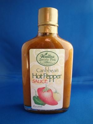 Caribbean Hot Pepper Sauce, Walters Specialty Foods: This flavorful hot sauce emulates the atmosphere and essence of the islands of the Caribbean, but is not for the tame.