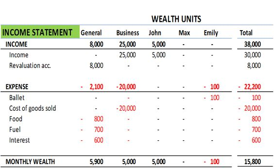 FamilyS Income Statement  Accounting