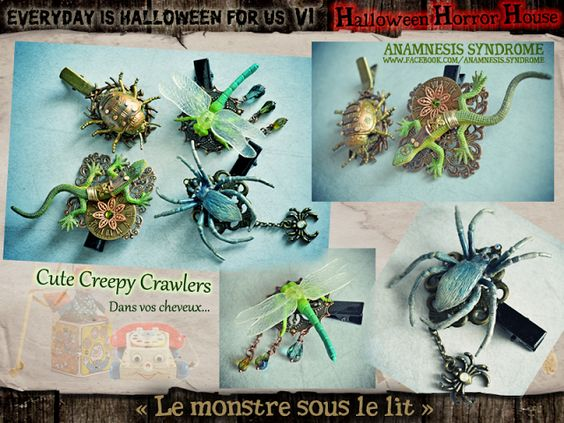 "Everyday is Halloween for Us et We All are Witches: ""le monstre sous le lit"" - second thème d'Everyday 2016"