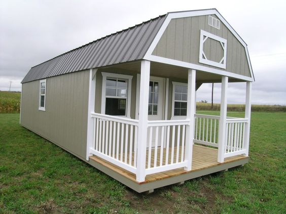 Sheds amish and garage on pinterest for Barn home builders indiana