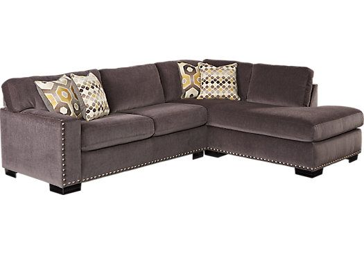 Shop for a Sofia Vergara Laguna Beach 2 Pc Sectional at Rooms To Go. Find Sectionals that will look great in your home and complement the rest of yu2026  sc 1 st  Pinterest : rooms to go microfiber sectional - Sectionals, Sofas & Couches