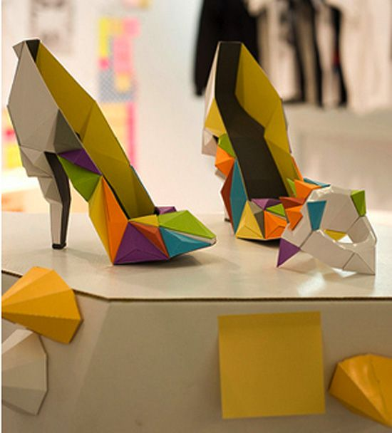 origami inspired shoes found at Ykone