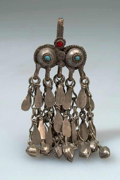 Afghanistan | Hair ornament; metal (silver), stone| Purchased 1963, Kabul bazaar