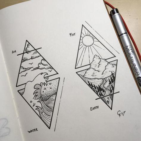 41 Ideas Para Tatuaje De Onda Tat Triangulo Ideas Onda Para Tat Tattoos Manner Tatuaje Triangulo In 2020 Geometric Tattoo Nature Triangle Tattoos Waves Tattoo
