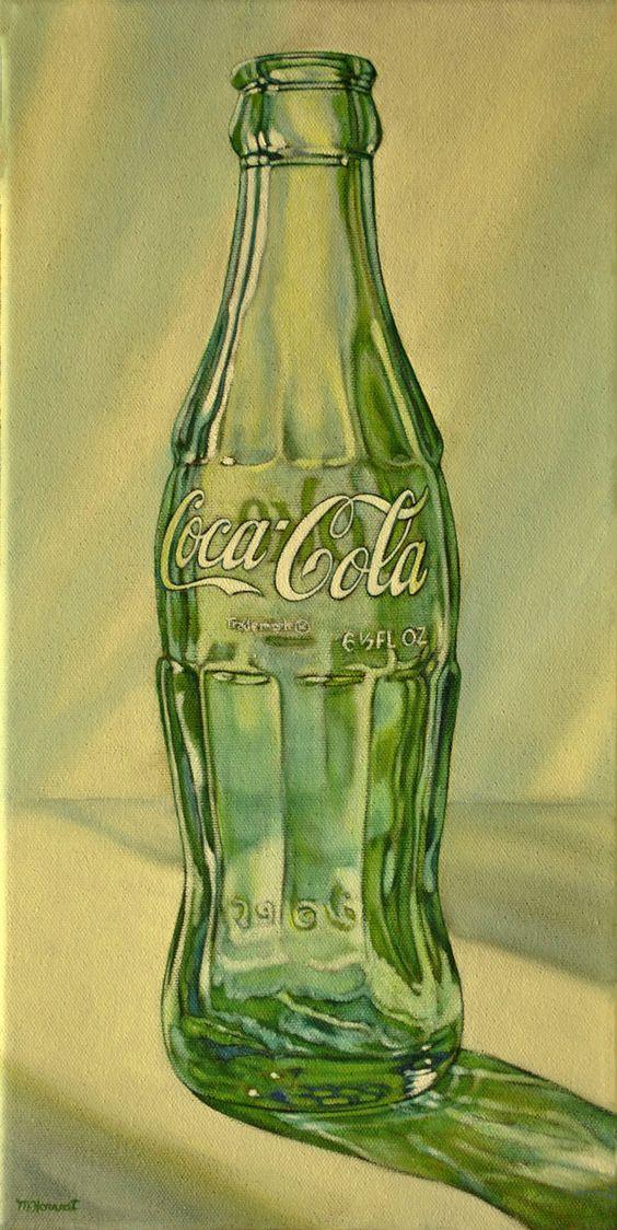 Coke Bottle painting, Coca Cola painting, vintage art, Coke, Coca Cola, vintage…