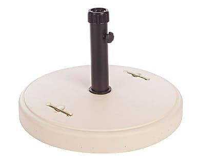 Base para sombrilla de cemento y resina, crema - 37 kg