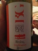 Bott-Geyl Les Elements Riesling 2011 #Wine #enjoy #buyingagain #dontstop