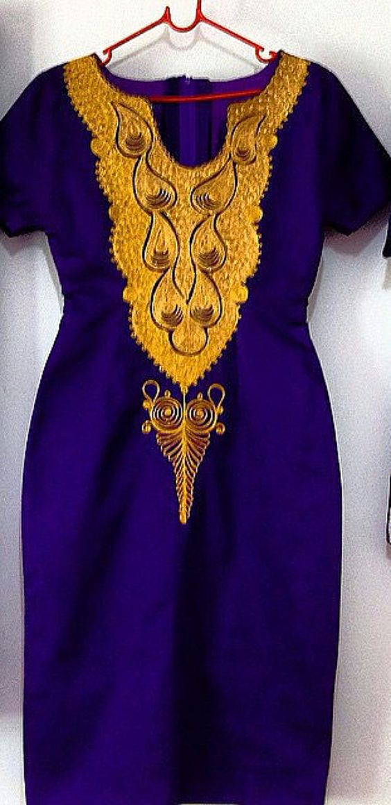 African Embroidered Dress for ladies of all sizes by SageClothing